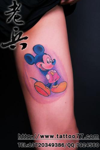 可爱的米老鼠纹身_湖北老兵武汉纹身培训学校|专业