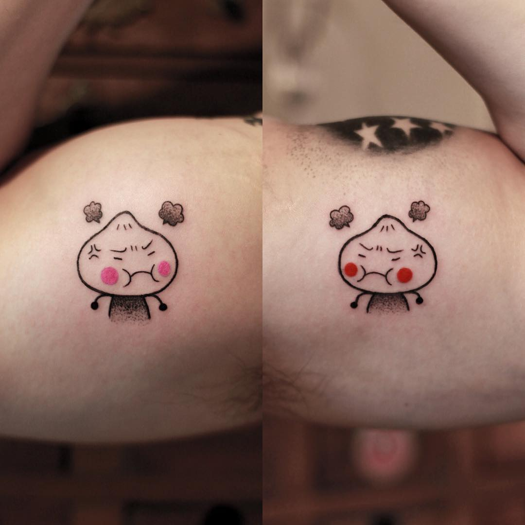 大臂可爱小清新生气的包子纹身图片