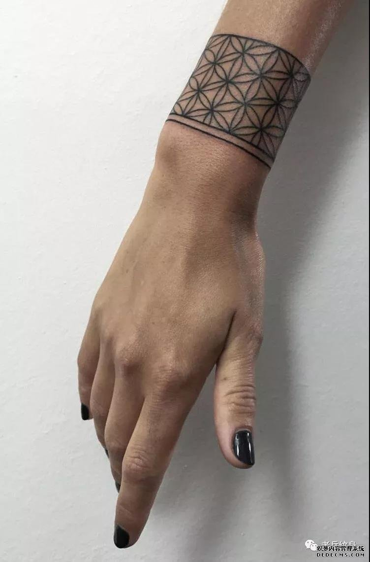 第440期纹身素材——女生小清新手环纹身