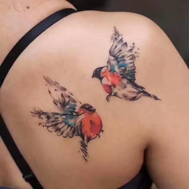 侧腰小燕子纹身图案大全