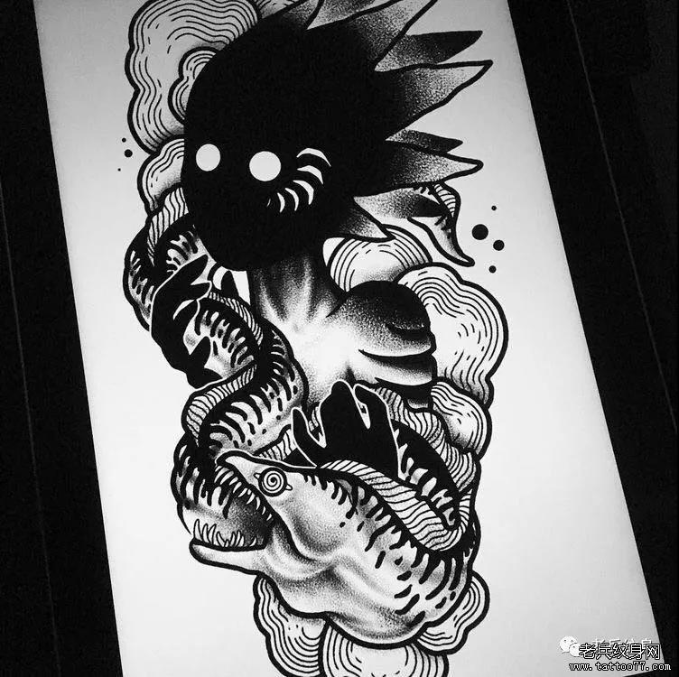 纹身素材第525期——暗黑恶魔